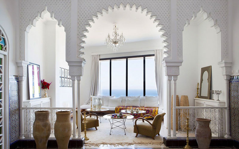 A stunning ocean view traditional Moroccan house ...