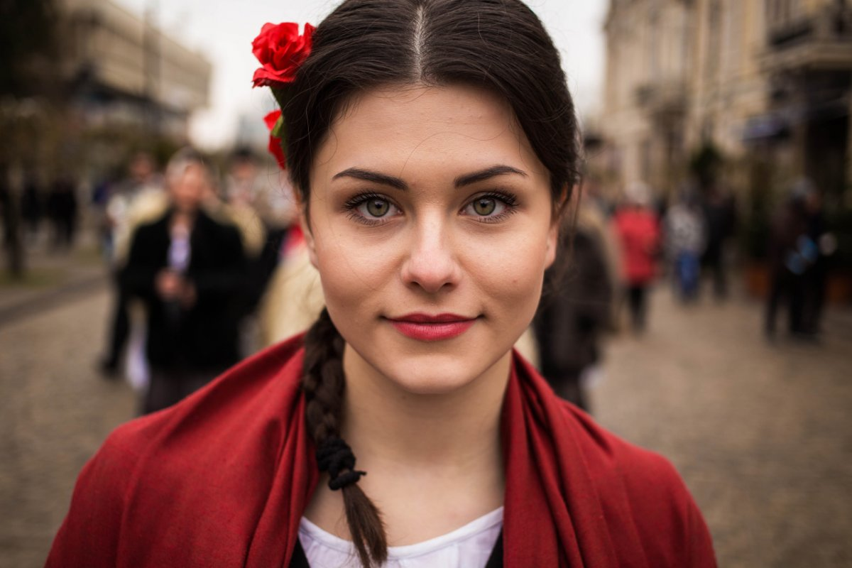 Noroc has spent three years traveling for her « Atlas of Beauty » series. This woman was photographed on the streets of Moldova.