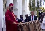 king-mohammed-vi-enjoys-playing-the-percussion-in-tanzania