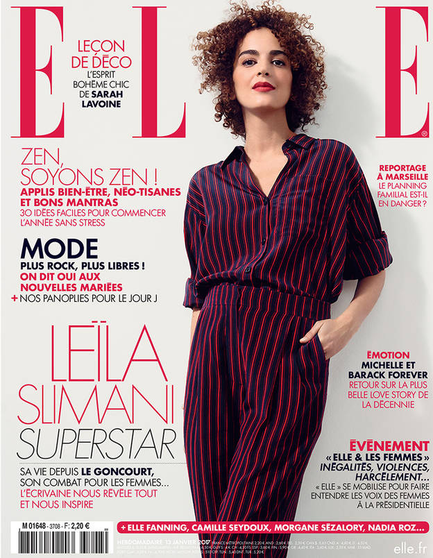 leila slimani on the cover of elle moroccan ladies. Black Bedroom Furniture Sets. Home Design Ideas