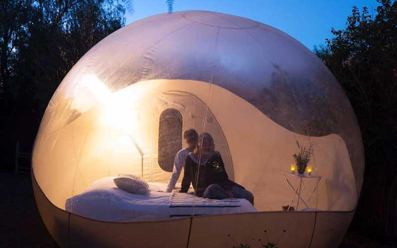 sleep in a bubble unusual night under the stars moroccan ladies