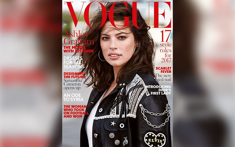 0213f8395c9b Curvy model Ashley Graham stars on the cover of British Vogue ...